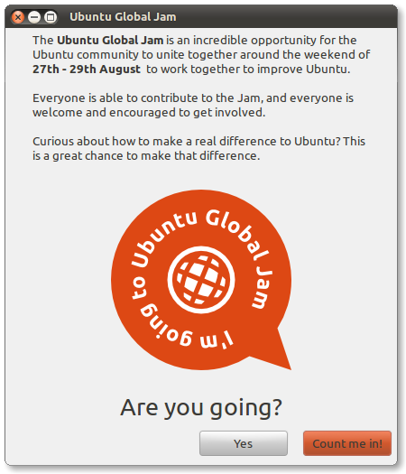 Join the fun at the Ubuntu Global Jam