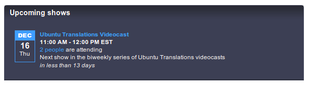 Join the next Ubuntu Translations Videocast