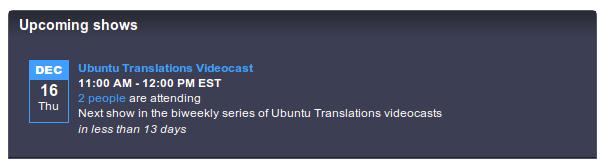 Join the next Ubuntu Translations Videocast