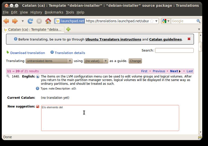 Translating Ubuntu